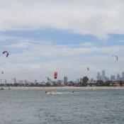 Kite Surfer Am St. Kilda Beach