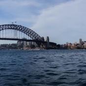 Blick Vom Port Jackson Auf Die Wahrzeichen Sydneys