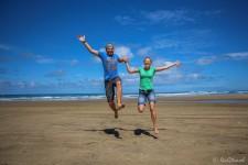 Ripiro Ocean Beach (Sandsurfing und endlos lange Strände)