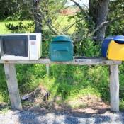 Eine Alte Mikrowelle Als Briefkasten