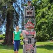 Maori Statue In Den Rotorua Government Gardens