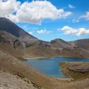 Oberer Tama Lake Und Ngauruhoe Vulkan