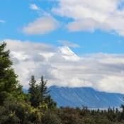 Blick Auf Den Gipfel Des Mount Cook