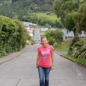 Die Steilste Bewohnte Strasse Der Welt, Die Baldwin Street In Dunedin