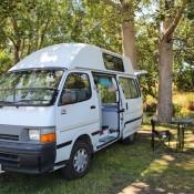 Auf Dem Idyllischen Campingplatz In Spring Creek
