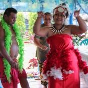 Samoanischer Tanz Beim 81. Geburtstag Von Lina's Vater