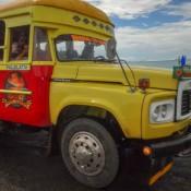 Typischer Bus Auf Samoa