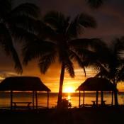 Sonnenuntergang Am Levasa Reort