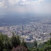 Blick über Bogotá