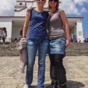 Mit Angie Auf Dem Cerro De Monserrate