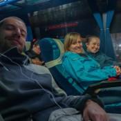 Im Bus Auf Dem Weg Nach San Gil