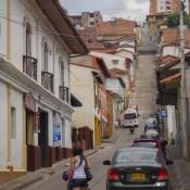 Steile Straßen In San Gil
