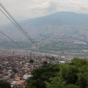 Blick Vom Armenviertel Santo Domingo über Medellin