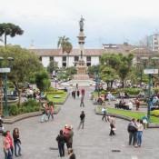 Blick Auf Den Plaza Grande Vom Präsidentenpalast