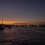 Sonnenuntergang Im Hafen Von Puerto Ayora