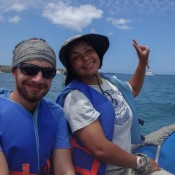 Jennifer Und Seppel Im Schlauchboot