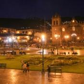 Plaza De Armas Bei Nacht