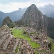 Erster Blick Auf Machu Picchu