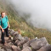 Steiler Aufstieg Zum Montaña Machu Picchu