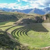 Terassen Der Inka Anlage Moray