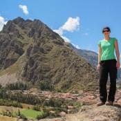 Blick Auf Ollantaytambo Von Den Inka Ruinen