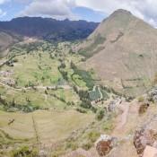 Bei Den Inka Ruinen Von Pisac