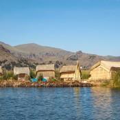Schwimmende Insel Auf Dem Titikaka See