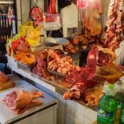 Frisches Fleisch Auf Dem Markt