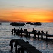 Sonnenuntergang über Dem Titikaka See