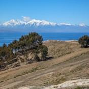 Blick Auf Die Schneebedeckten Berge Der Anden