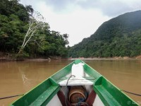 By boat to the jungle lodge