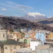 Blick über La Paz Bis Zum Berg Illimani