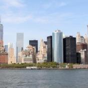 Blick Von Der Staten Island Fähre Auf Manhattan