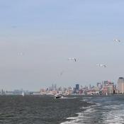 Toller Ausblick Auf Freiheitsstatue, New Jersey Und Manhattan