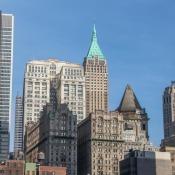 Typische Hochhäuser In New York